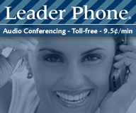 Get Leader Phone® audio conferencing services information.